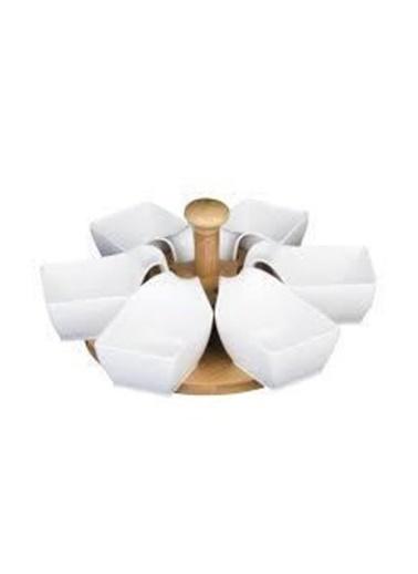 Acar PORJ-009615/12 Acar Plus Bambu Porselen Kaseli Döner Stantlı Sunumluk Porj-009615/12 Renkli